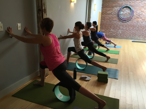 Yoga Wheel Class at The Glowing Body Yoga Studio